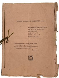 Lot 1 The British Antarctic Expedition 1907-1909 led by Ernest Shackleton - June 23rd 1908. The Midwinter Celebration Programme from Winter Quarters, Cape Royds. Antarctica