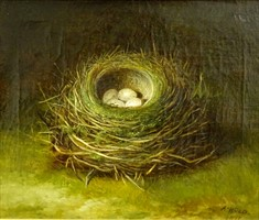 Lot 3061 Abel Hold (1815-1891). Birds nest